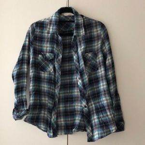Plaid Lovestitch long sleeved shirt